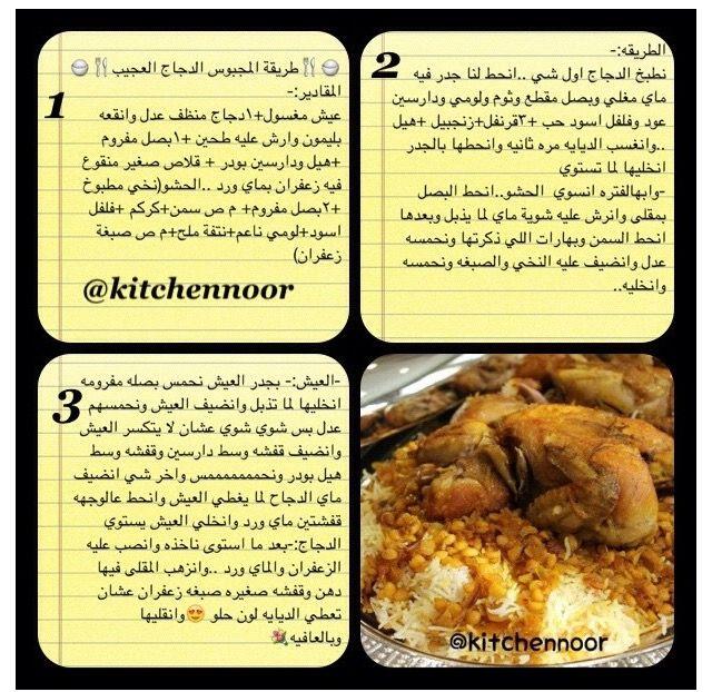 كبسة دجاج Food Recipes Yummy