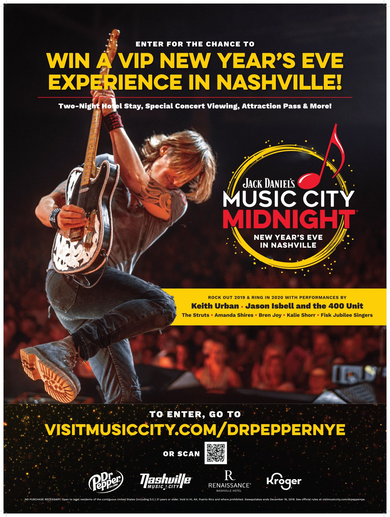 Enter for a chance to win a trip to Nashville. Win a