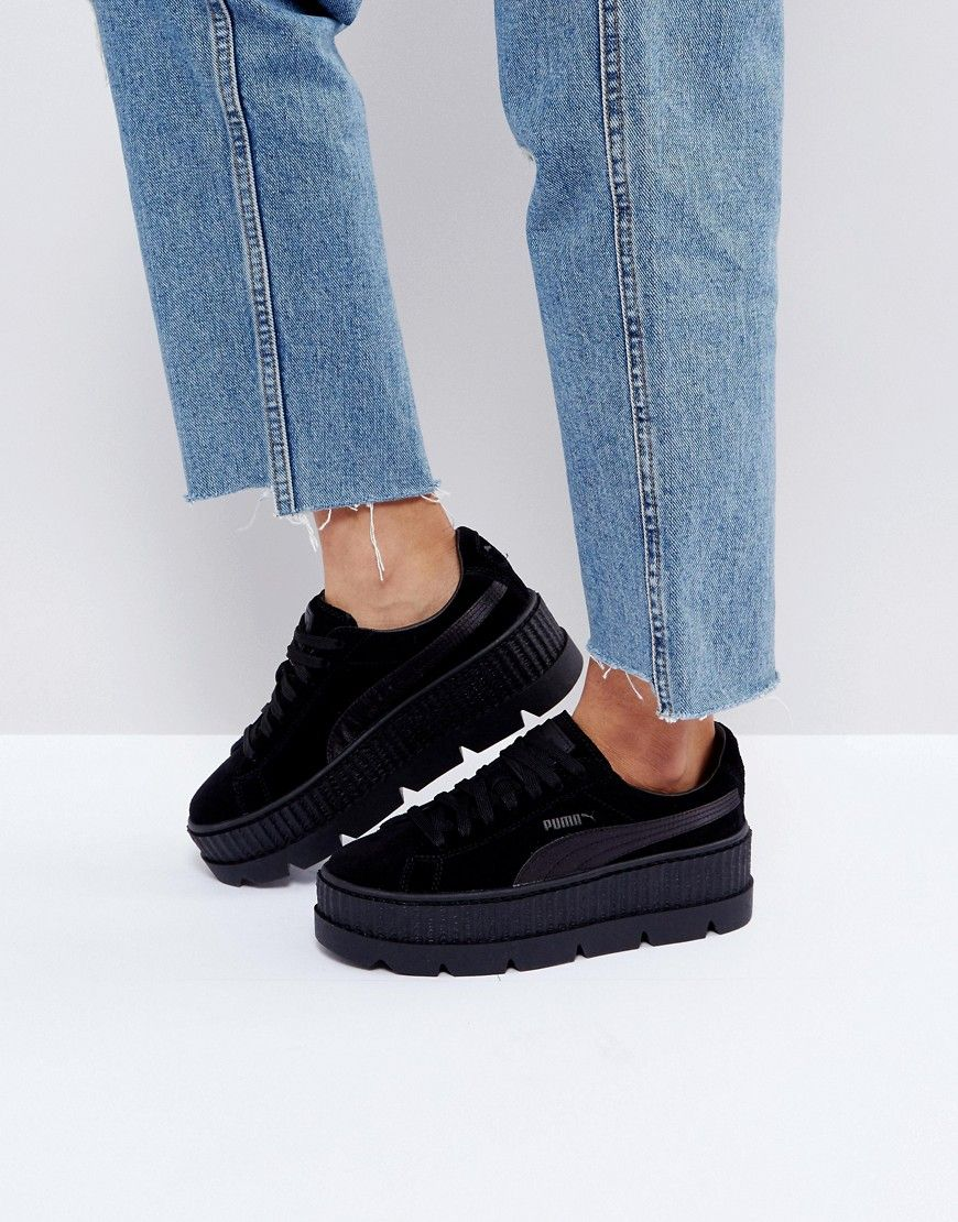 on sale 99467 cb5aa PUMA X FENTY SUEDE CREEPERS IN BLACK - BLACK. #puma #shoes ...