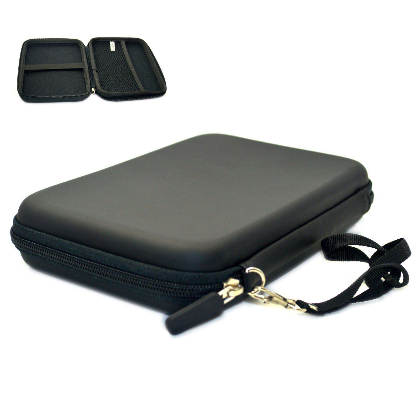 Black 7 GPS Carrying Case Hard Shell Travel EVA Bag Zipper Cover Pouch for 6 7 Garmin Navigation Nuvi Tomtom Magellan Mio