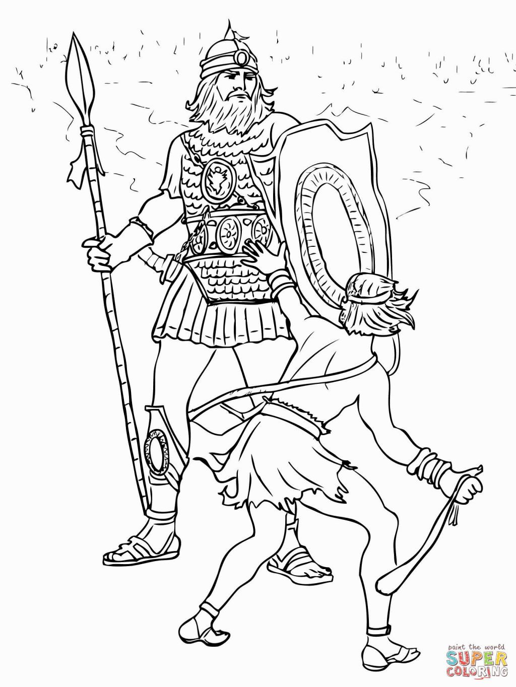 No David Coloring Page Free Coloring Pages Bible Coloring Pages