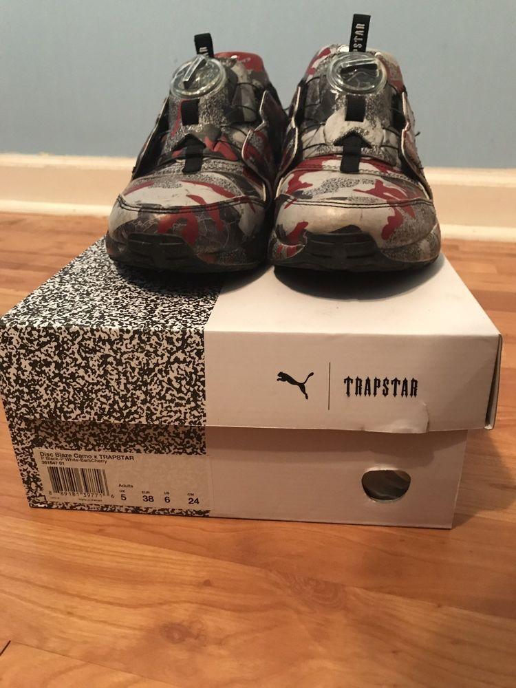 d94c55a38b560a Puma Disc Blaze Camo X Trapstar Running Shoes- Black- Mens  fashion   clothing