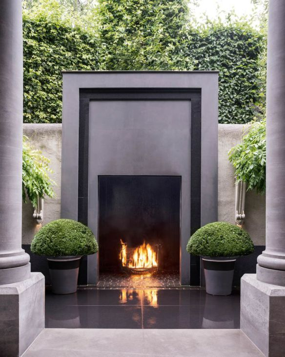 Beautiful Fireplace and Patio Design Outdoor Rooms and Gardens