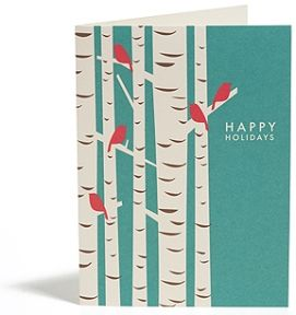 birch trees holiday cards