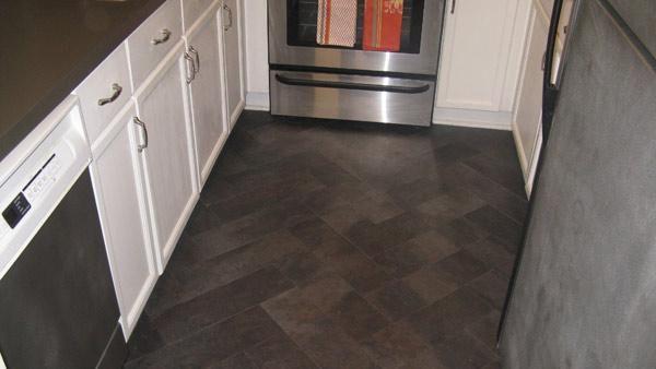 Vinyl Flooring Installed In Herringbone Pattern You Can Give