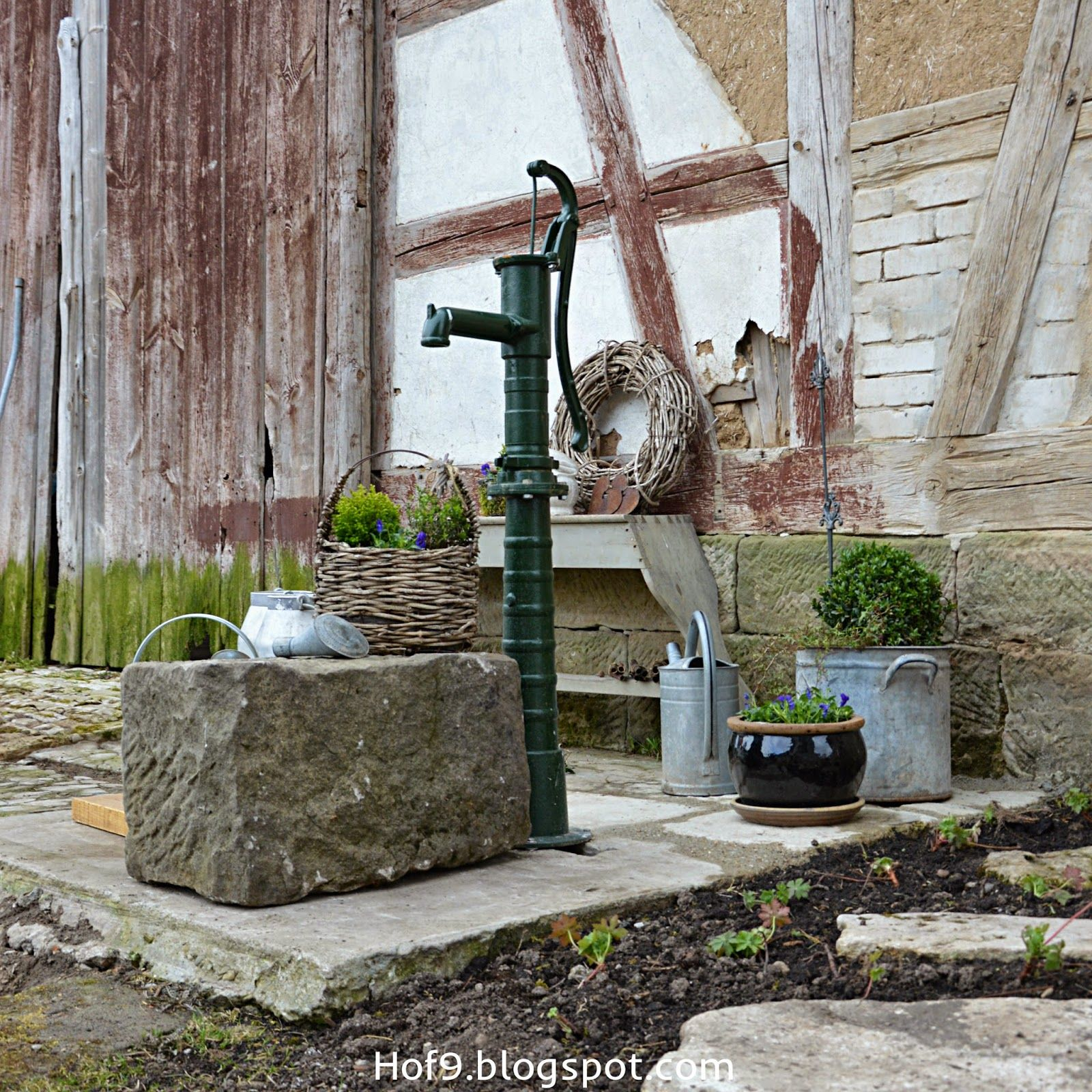 Schwengelpumpe Gartendeko Mit Zink Zinkkannen Zinkgiesskanne