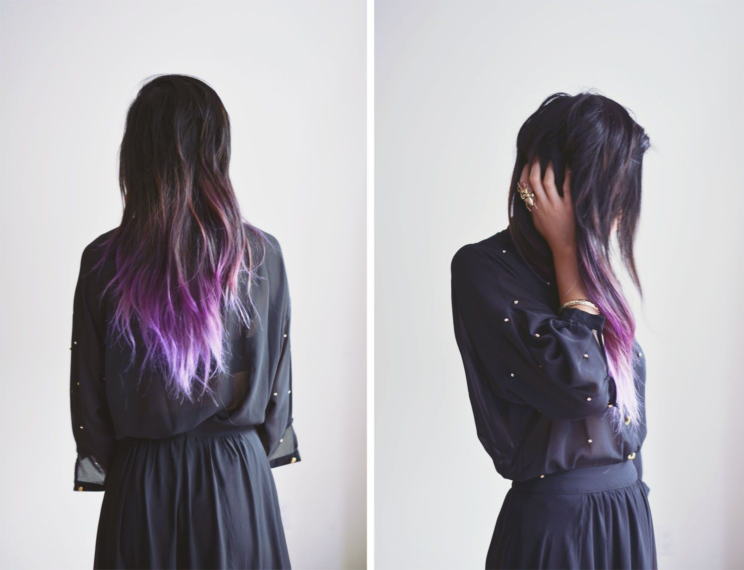 Brown Hair With Lavender Tips Google Search With Images Dip