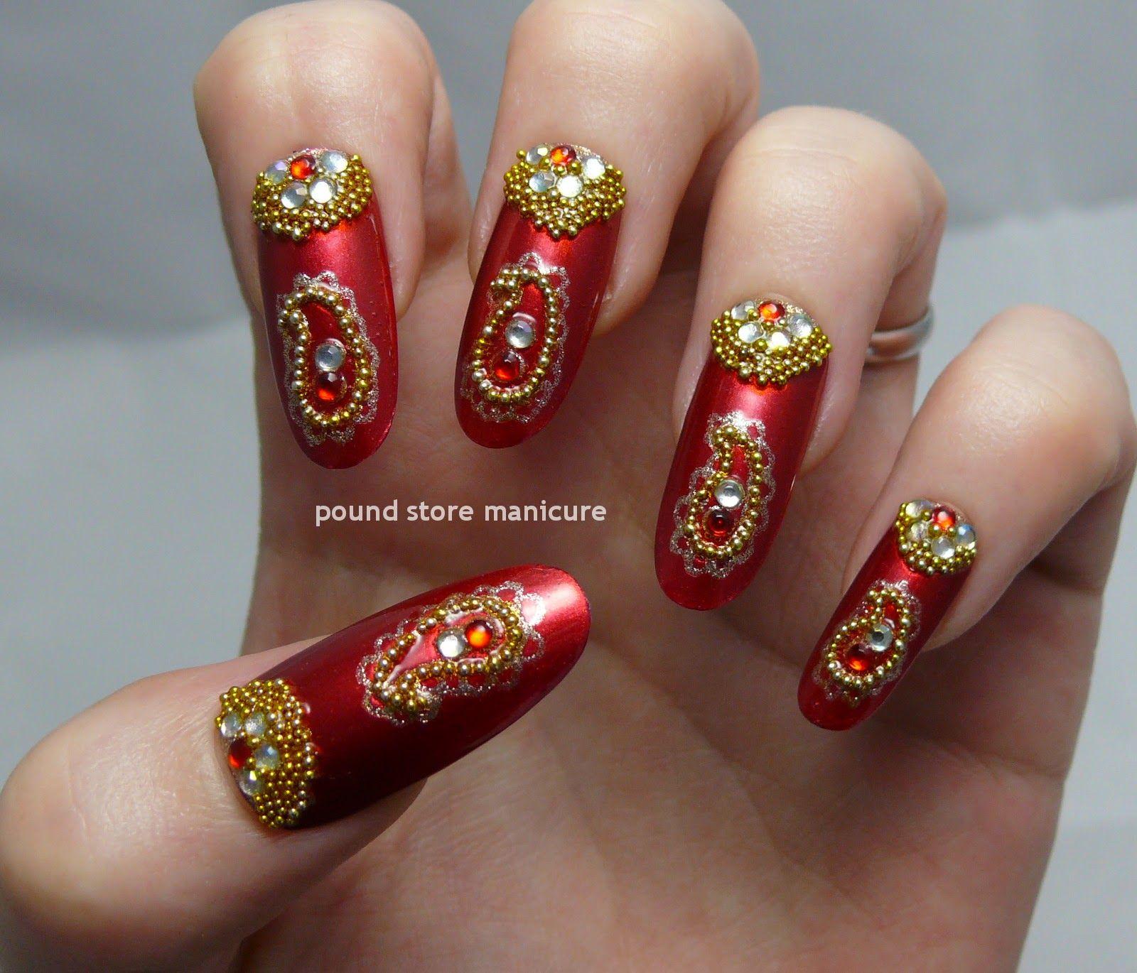дизайн ногтей в индийском стиле фото пример