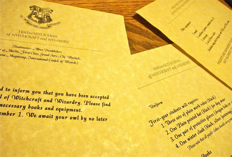 Hogwarts acceptance letters (With images) Hogwarts