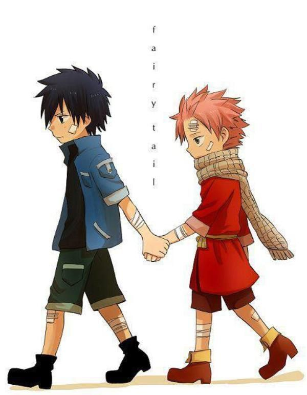 natsu and gray brothers to the very end d i love this