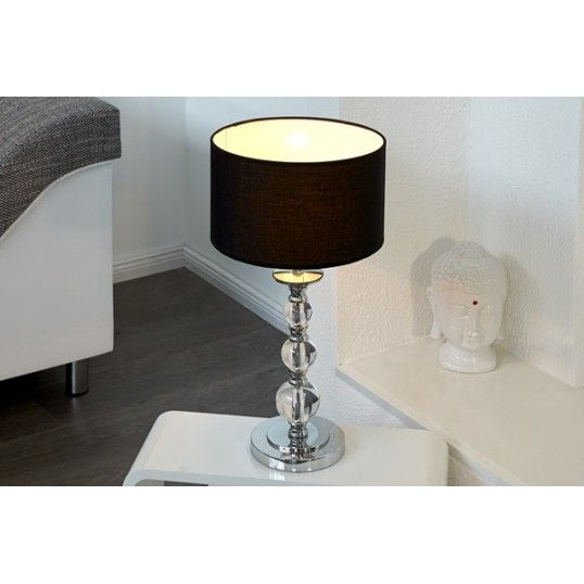 Acrylic Lamp Stand Base Verona Design Table Lamp Black Shade