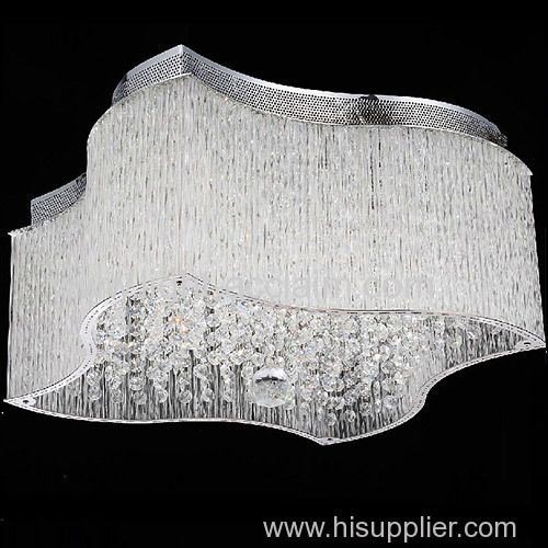 Transpa Corrugated Gl Rod Modern Lighting Profiled Crystal Ceiling Lamp Contemporary Manufacturer Supplier
