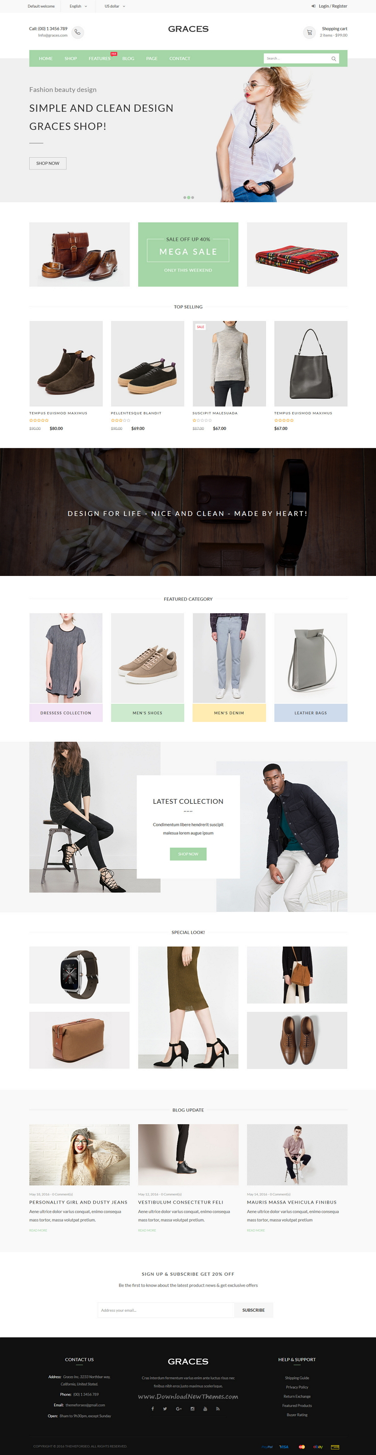 Graces is responsive Bootstrap HTML Template for multipurpose eCommerce website with 8 homepage #layouts. #dress #fashion #store Download Now!