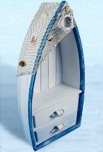Small Nautical 28 Inches Tall Boat Book Shelf Dresser : click to enlarge