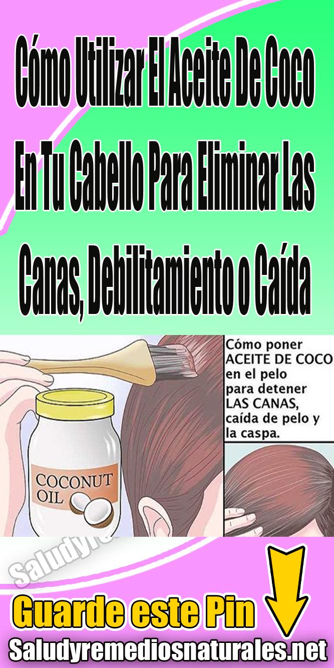 Cómo Utilizar El Aceite De Coco En Tu Cabello Para Eliminar Las Canas Debilitamiento O Caída Cabello Belleza Canas Beauty Hacks Healthy Tips Cabello Hair