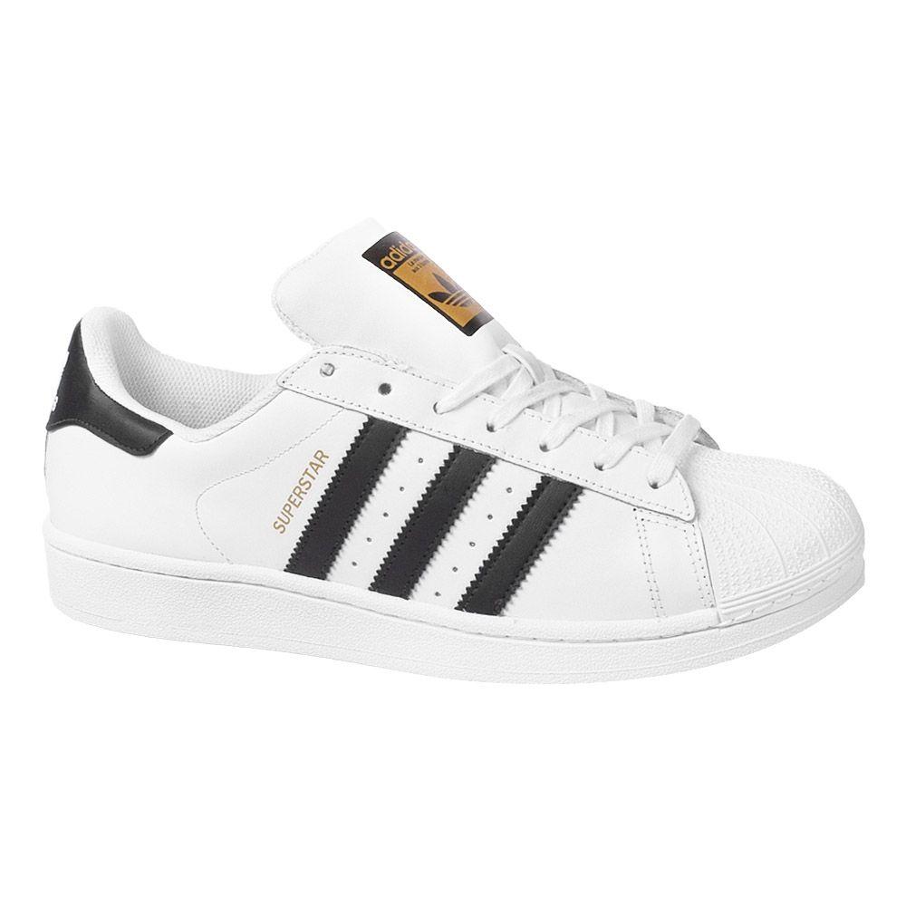 3b32288305f Tênis adidas Superstar Foundation Branco Preto Masculino ...