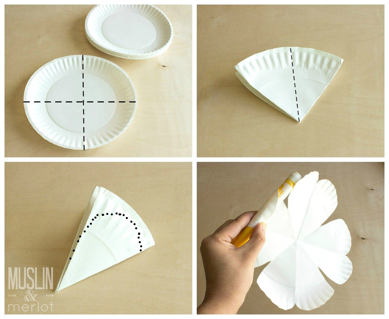 Paper Plate Flowers Creativity Is A Gift Pinterest Paper