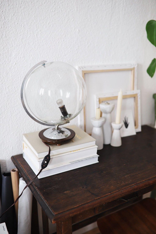 Upcycling Vintage Globus Lampe Diy Globus Globus Lampe Und Diy