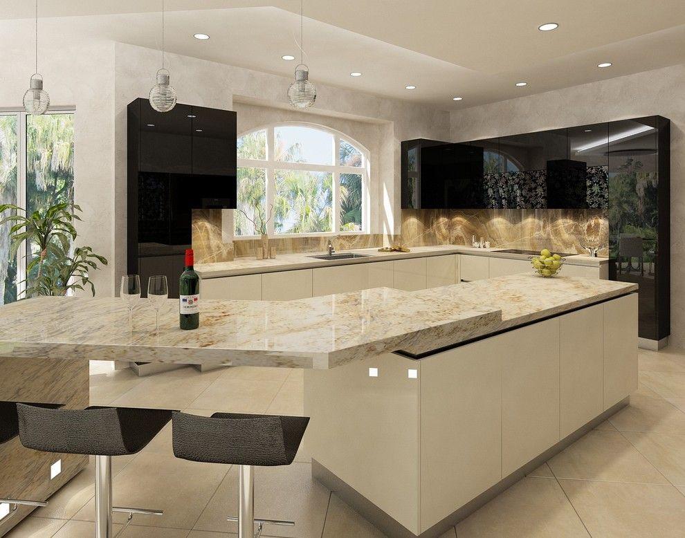 Split Level Bench Tops Contemporary Kitchen Design Contemporary