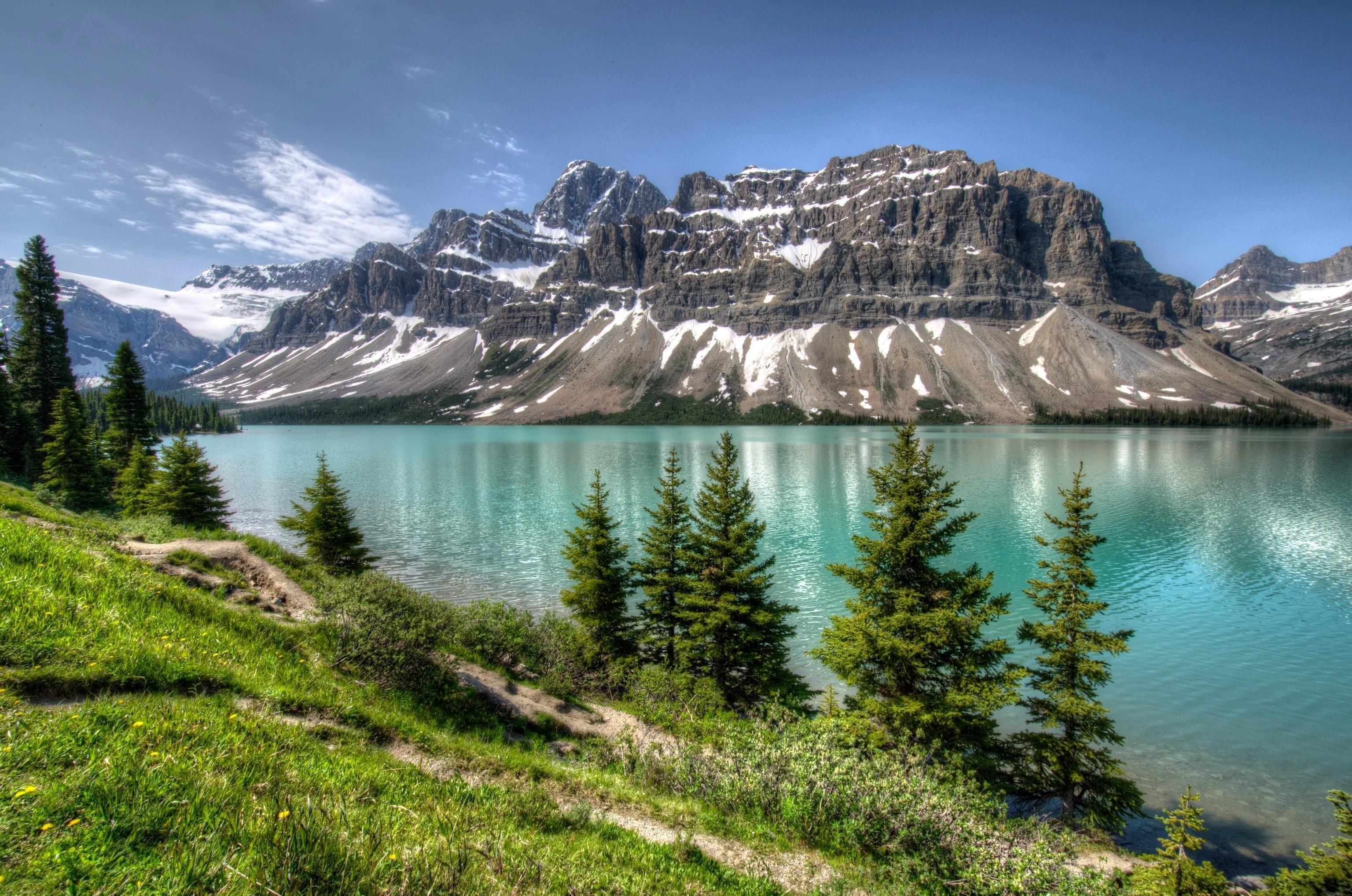 Landscape Nature Lake Mountain Hd Wallpaper Banff National Park Adventure Art Landscape