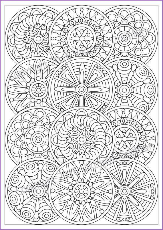 Mandala Coloring Page For Adult Pdf Doodle Zentangle Art Pattern Printable Doodle Flowers With Images Mandala Coloring Pages Pattern Coloring Pages Mandala Coloring