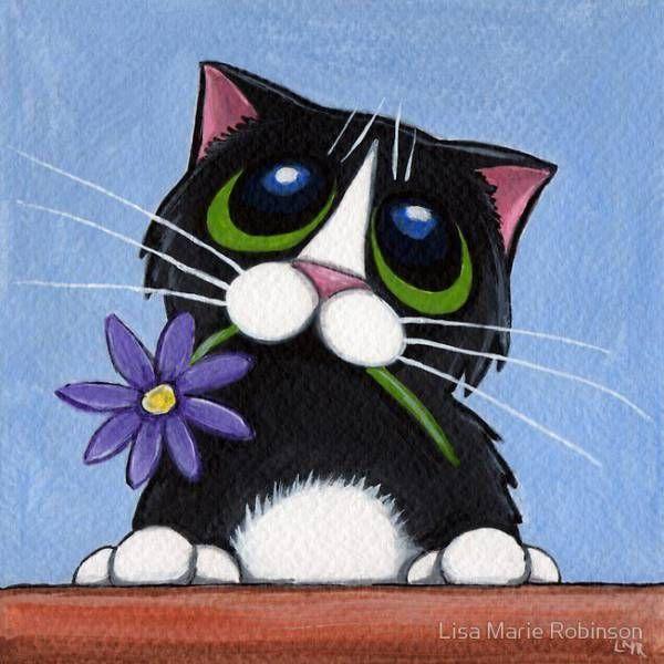Позитивные рисунки котиков от от Lisa Marie Robinson » RadioNetPlus.ru развлекательный портал