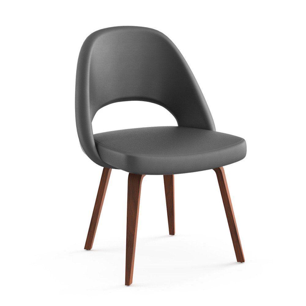 Saarinen Executive Armless Chair Wood Legs