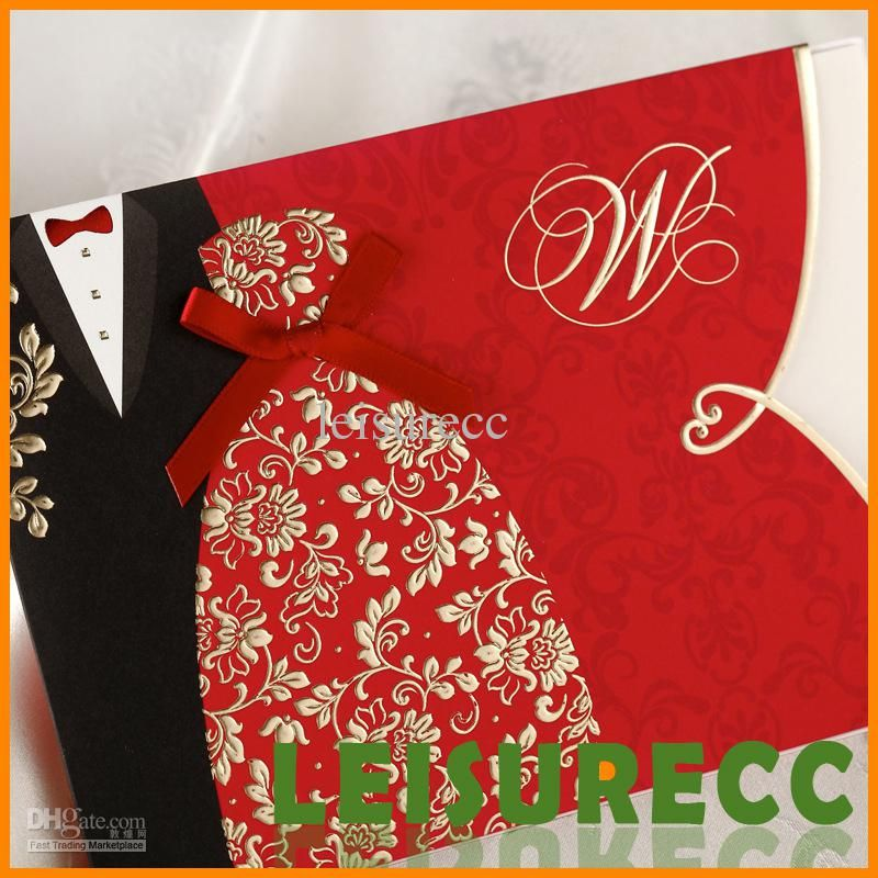 Free Wedding Invitation Templates Diy Formal Dress Black Red