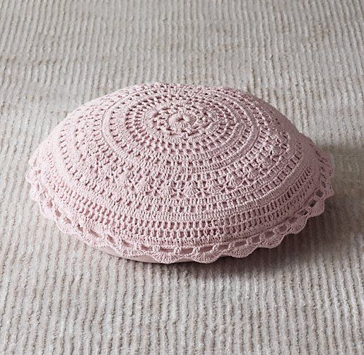 Crocheted Floor Pillow | Floor Pillows | Restoration Hardware Baby ...