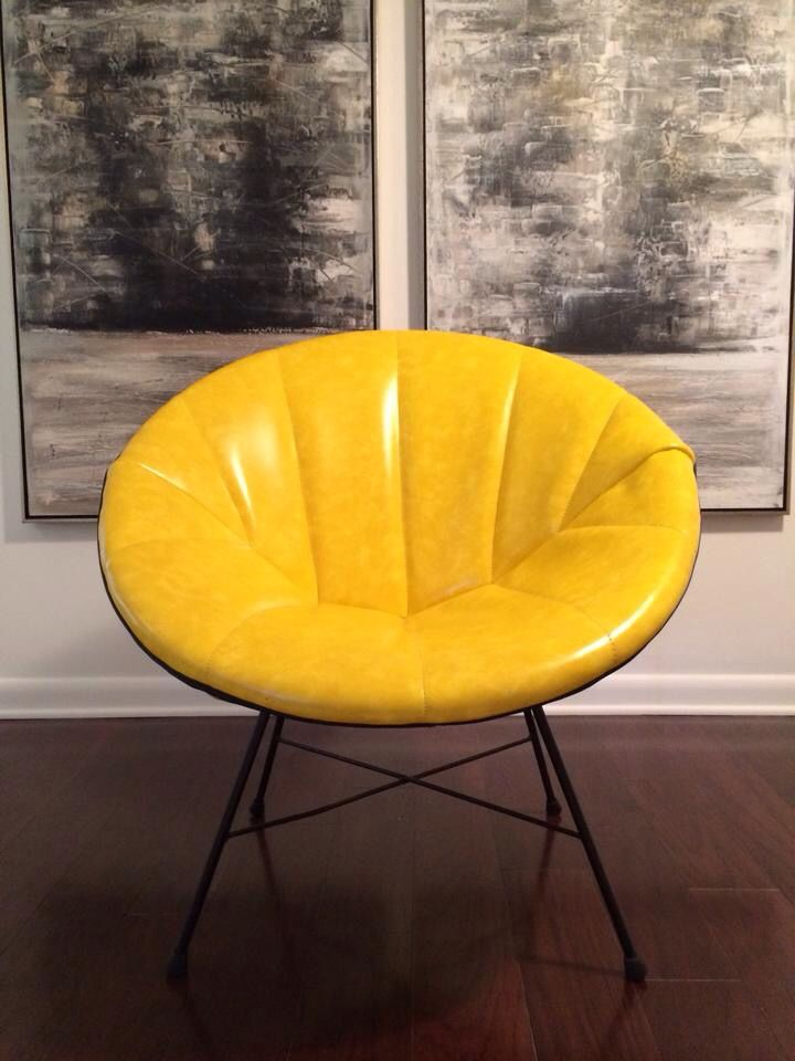 Super Groovy Yellow Saucer Chair. Itu0027s A Blast From The Past And Is In Out