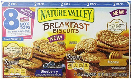 Nature Valley Breakfast Biscuits - 20 Honey Biscuits, 20 Blueberry Biscuits - http://sleepychef.com/nature-valley-breakfast-biscuits-20-honey-biscuits-20-blueberry-biscuits/