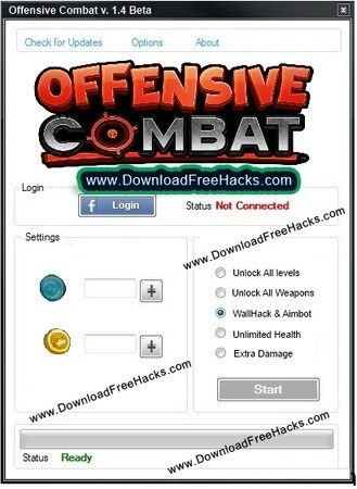 Offensive Combat Hack Gold Coins Blue Credits Generator