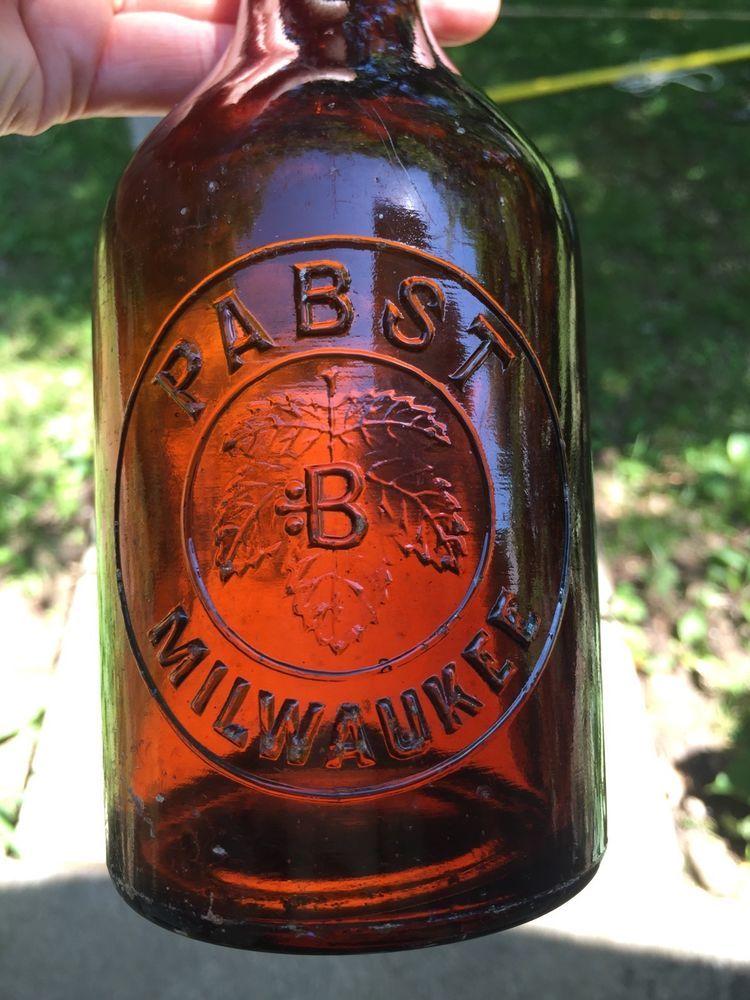 Pabst B Milwaukee Amber Slug Plate Squat Blob Top Beer W
