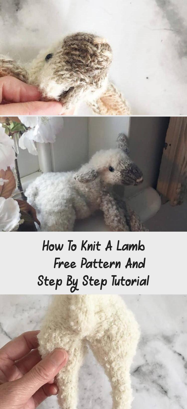 Cómo tejer un cordero - Patrón gratuito y tutorial paso a paso - Bordado