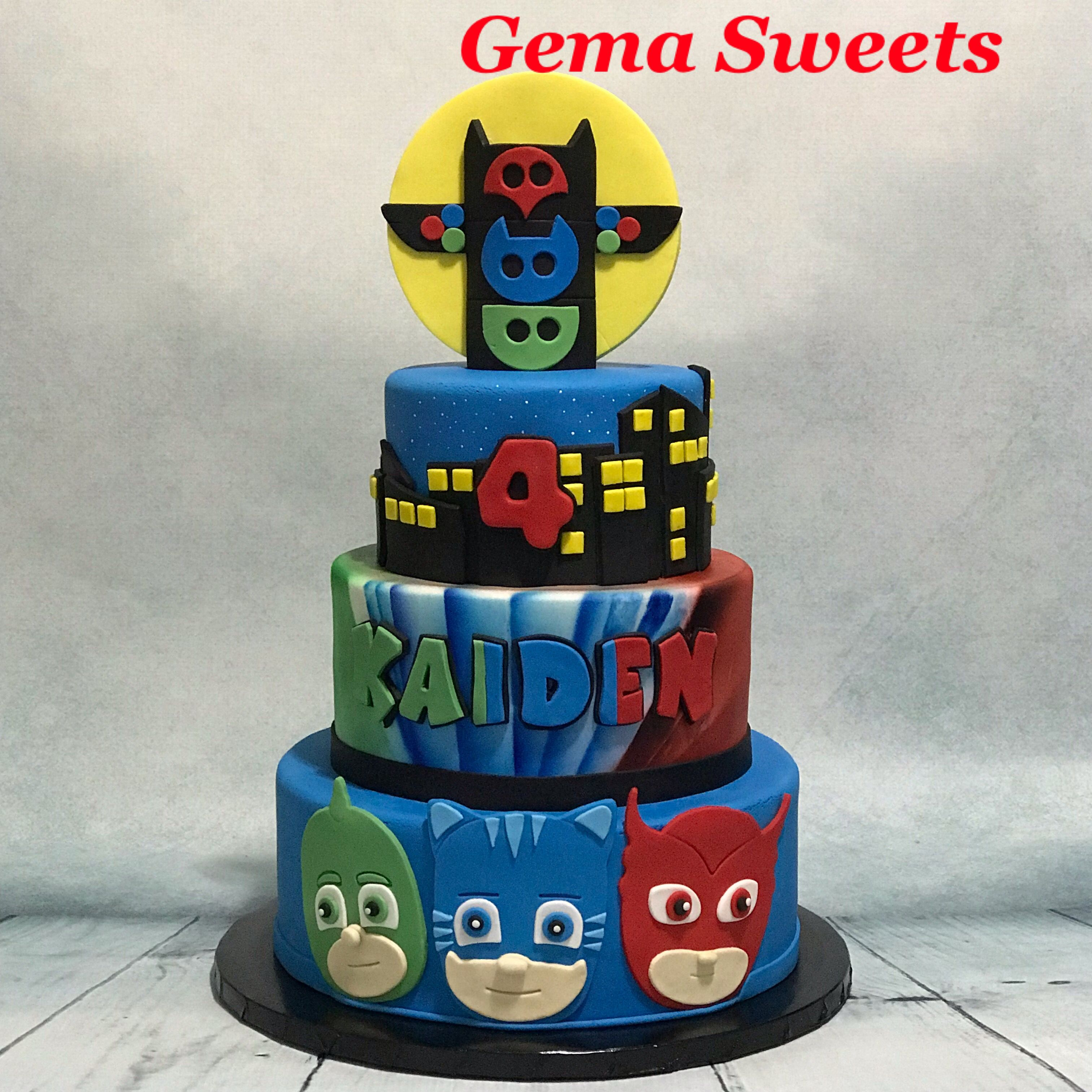 pj masks cakegema sweets  pj masks cake 4th