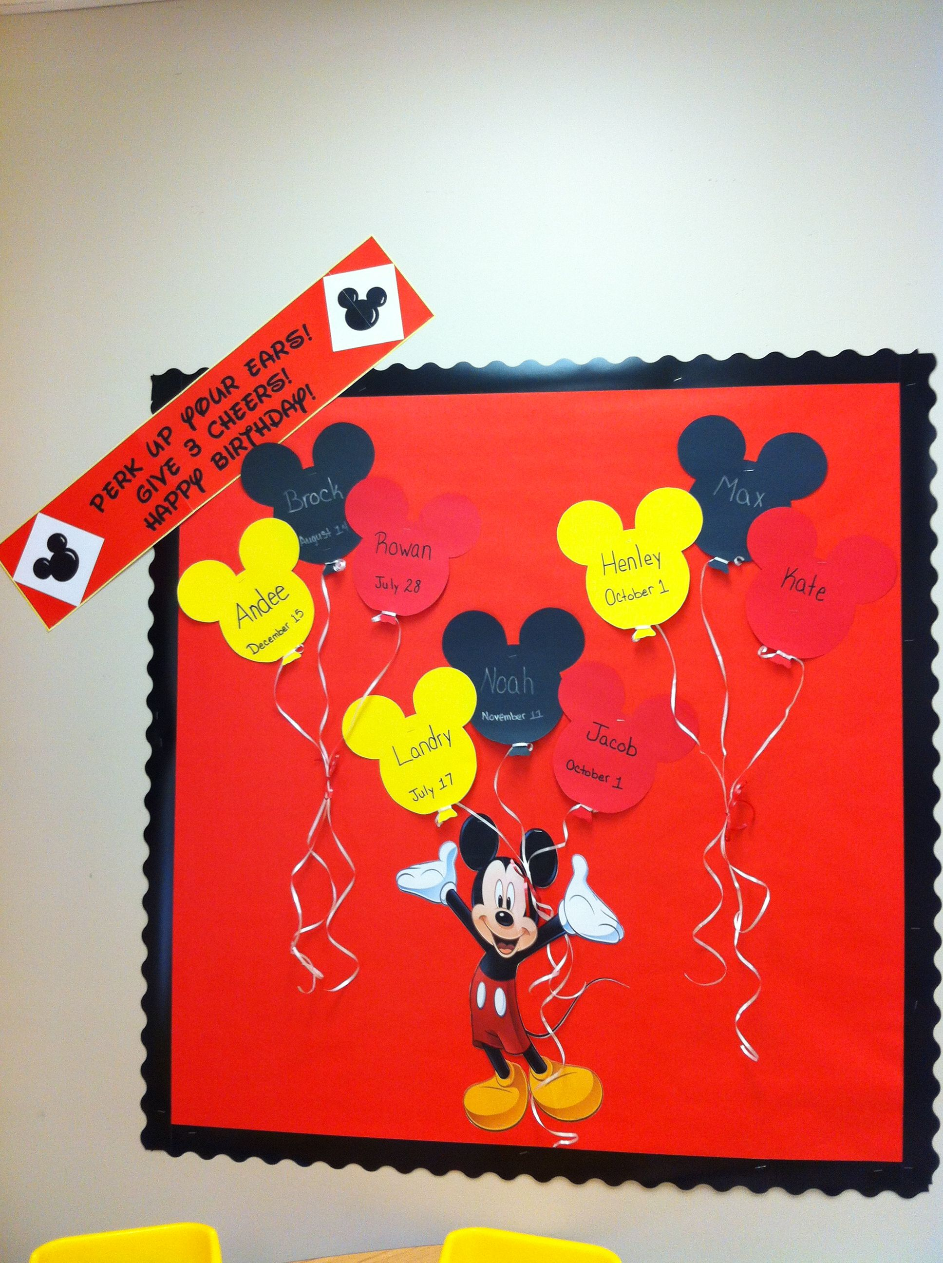 Mickey Mouse Birthday Board