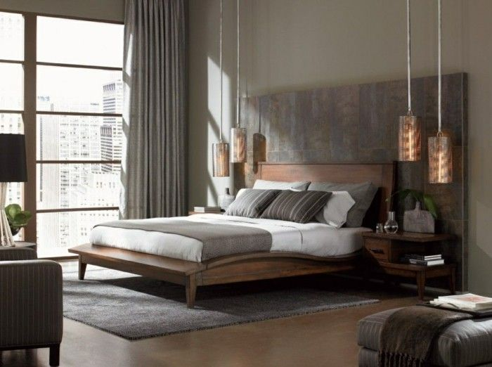gardinen schlafzimmer männliches interieur mit hellen gardinen - vorhnge schlafzimmer ideen