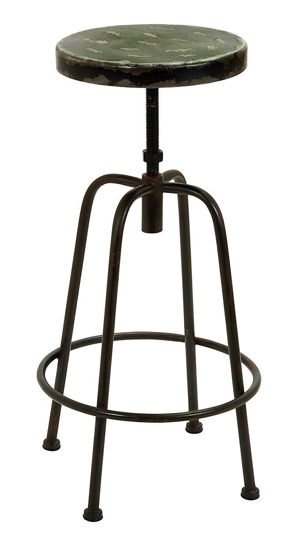 Amazoncom Benzara Vintage Inspire Metal Bar Chair 32 Inch And 16