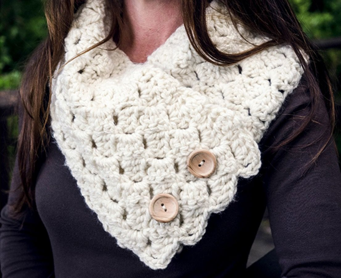 Crochet Button Up Cowl Pattern Collection | Paz, Deberes y Tejido