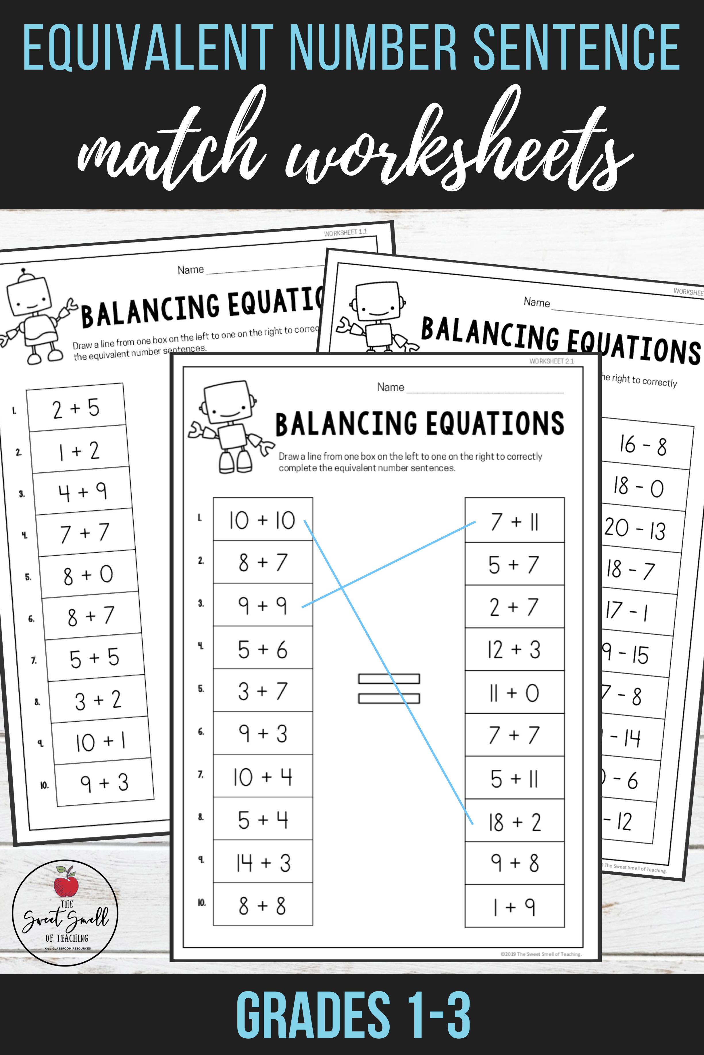 Balancing Equations Challenge Worksheet Answer Key