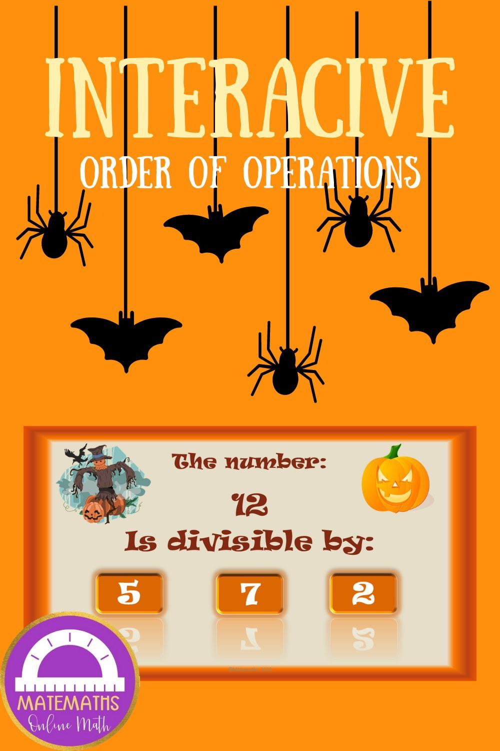 Math Divisibility Rules Activity Interactive Halloween Halloween Teaching Halloween Resources Math Problem Solving Activities