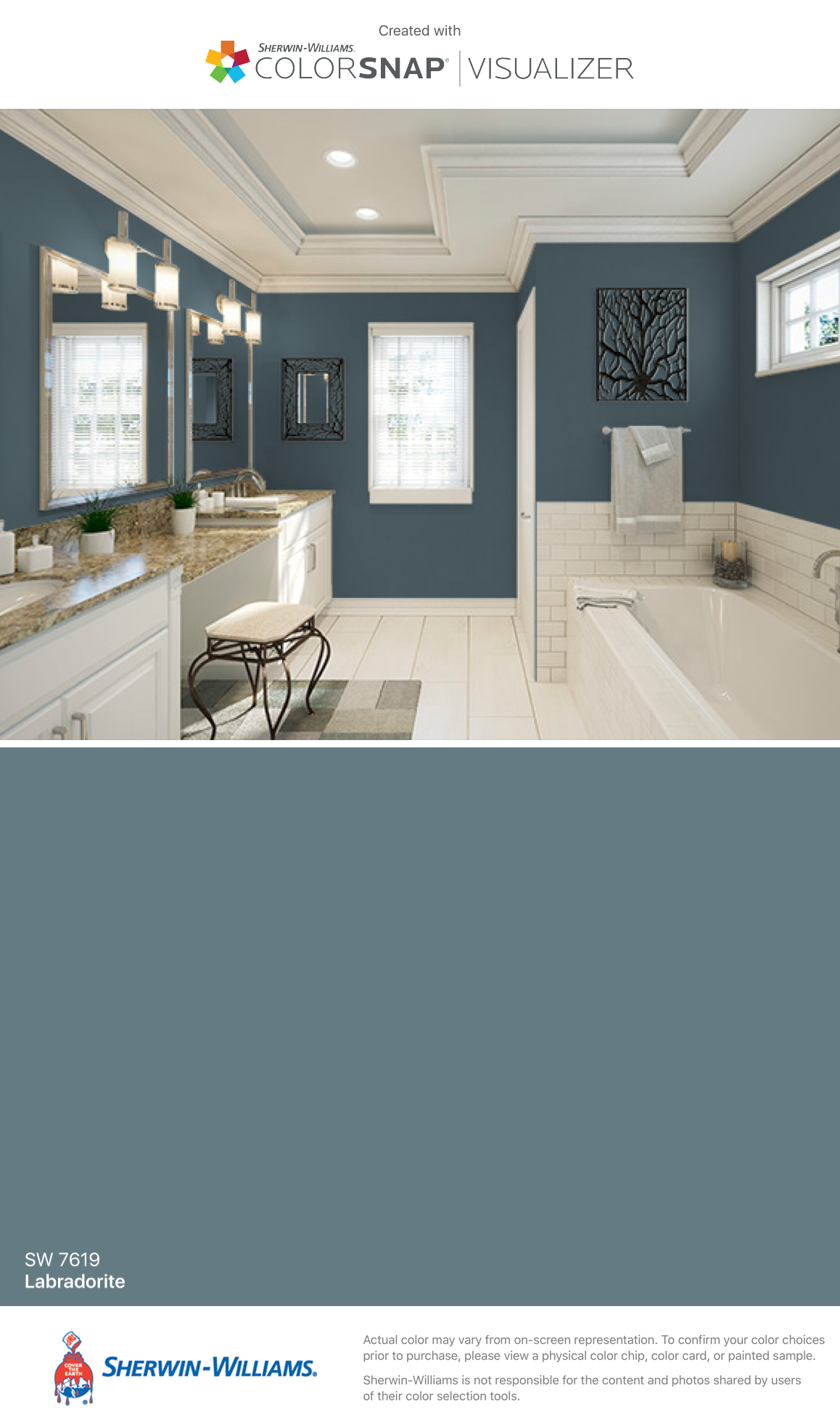 I Found This Color With Colorsnap Visualizer For Iphone By Sherwin Williams Labradorite Sw 7619 In 2020