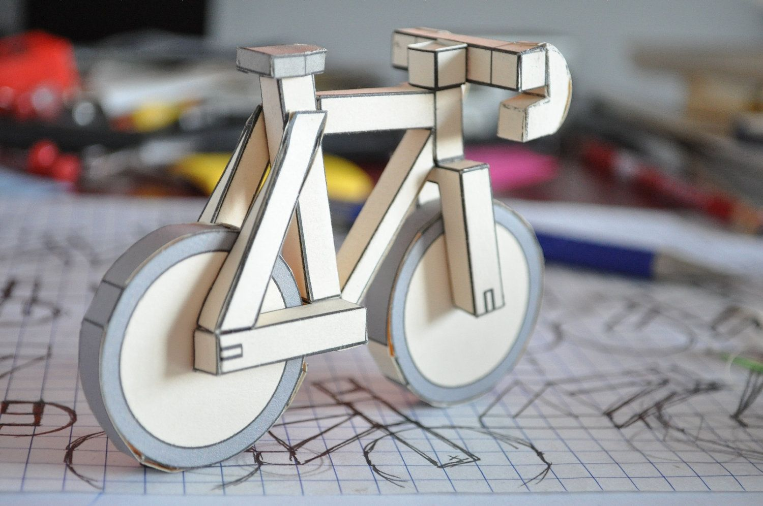 Low Poly 3d Papercraft Paperbikes V2 Pdf Fixed Gear Paper