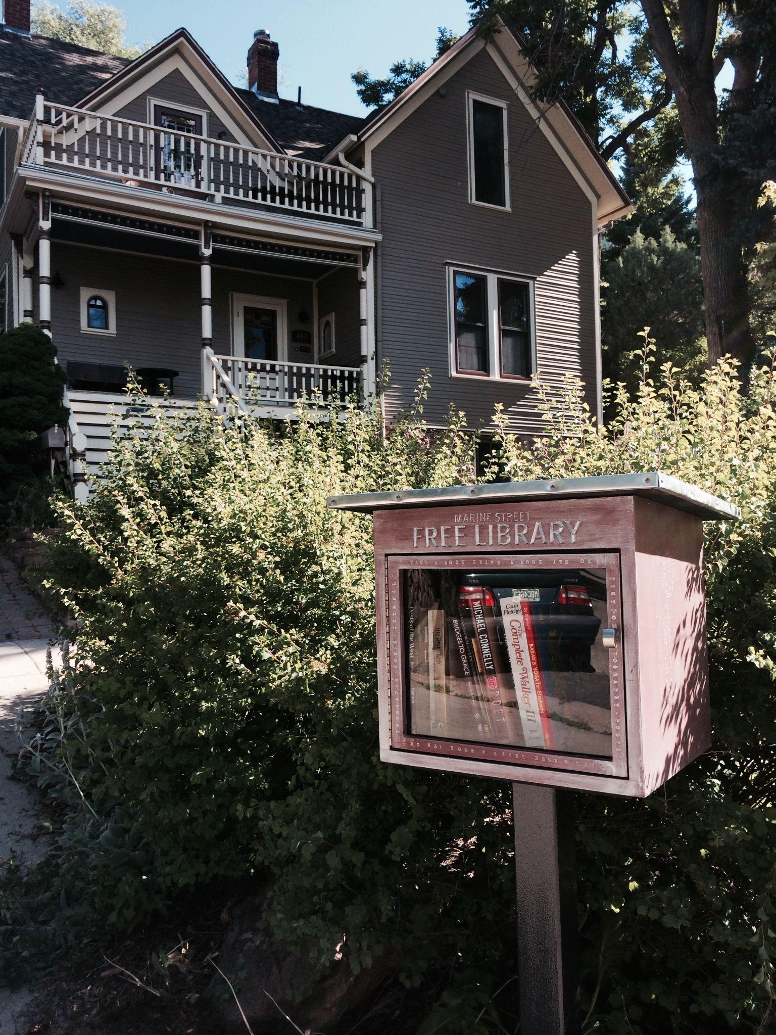 Seth Frankel. Boulder, CO. The Marine Street Free Library