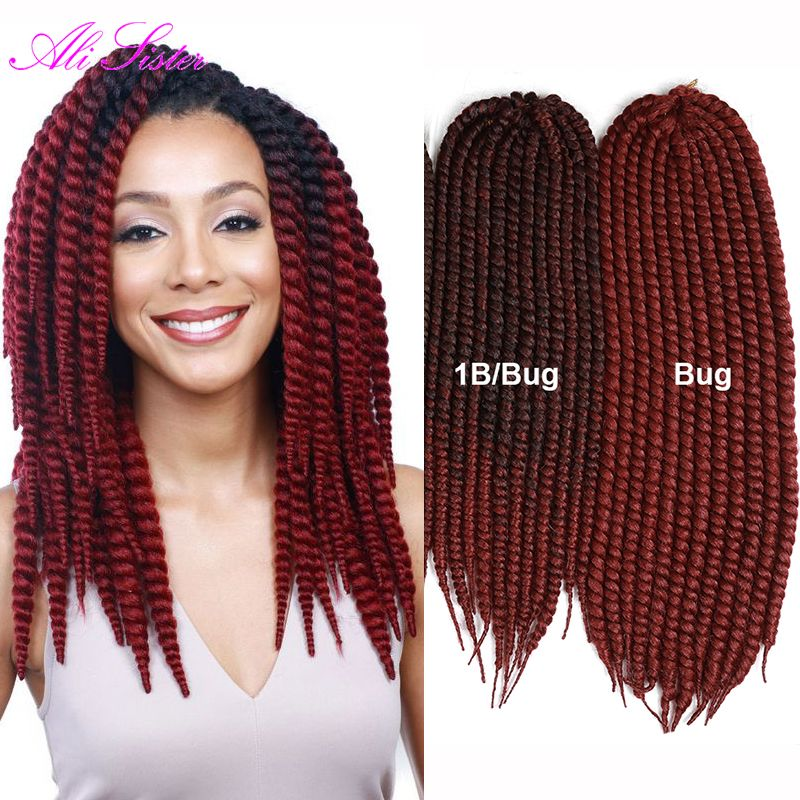 Aliexpress Com Buy Ombre Braiding Hair 1b Bug Red Hair Extension Crochet Braids Havana Mambo Twist Om Ombre Hair Extensions Twist Hairstyles Cheap Hair Color