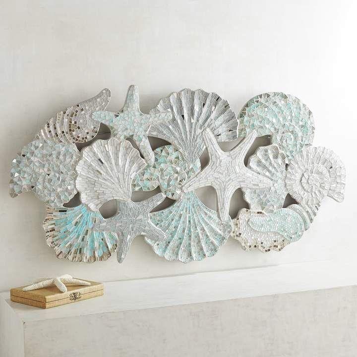 Pier 1 Imports Mosaic Shells Wall Panel #ad #coastalliving ...