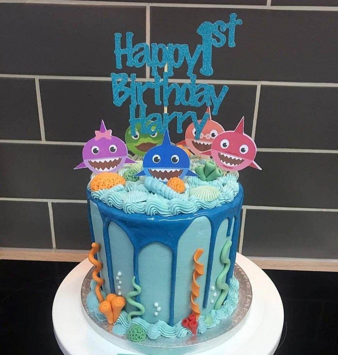Pin by Leia Deak on BirthdayIdeas Shark birthday cakes