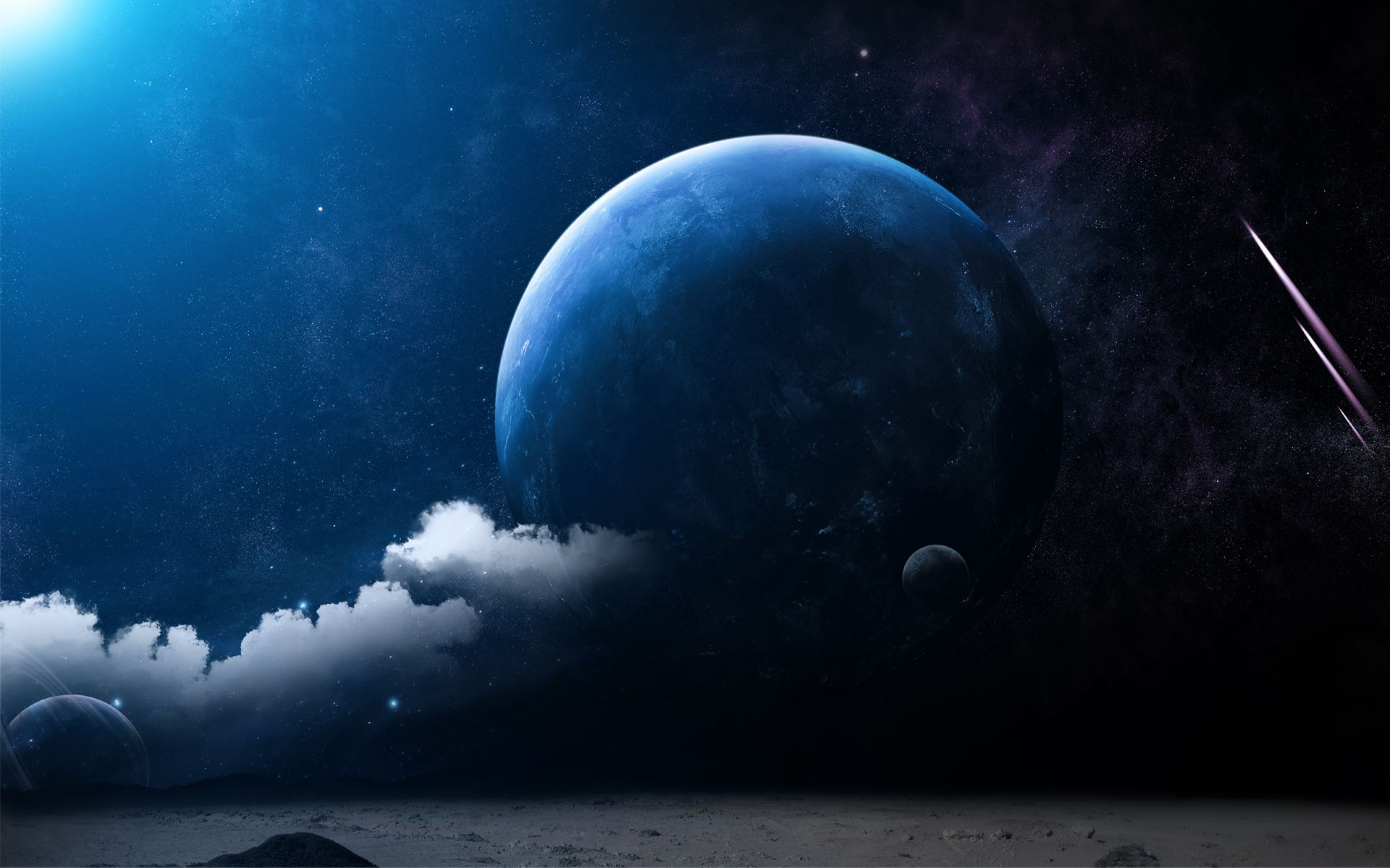 Space Planets And Universe Scifi Fantasy Art Science Fiction Illustration Hd Wallpaper