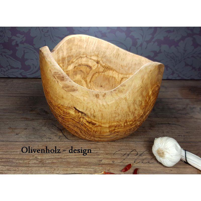 Obstschale Salatschussel Olivenholz O 24 Cm Rustikal Sc Kuche