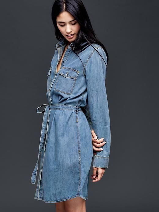 ee72f4d125d6 1969 denim western tie shirtdress